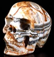 "5.0"" Eastern Jasper Carved Crystal Skull, Super Realistic, Crystal Healing"
