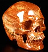 "5.0"" Red Jasper Carved Crystal Skull, Super Realistic, Crystal Healing"
