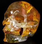 "5.0"" Smelted Quartz Carved Crystal Skull, Super Realistic, Crystal Healing"