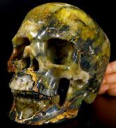 "Lifesized 6.9"" New Pietersite Carved Crystal Skull, Super Realistic, Crystal Healing"