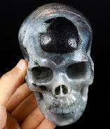 "5.0"" Labradorite Carved Crystal Skull, Realistic, Crystal Healing"