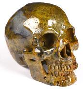 "Gemstone 3.6"" Empire Red Agate Carved Crystal Skull,Super Realistic, Crystal Healing"