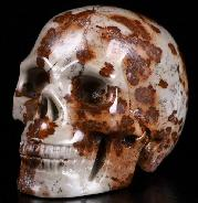 "2.0"" Chinese Painting Stone Carved Crystal Skull, Realistic, Crystal Healing"