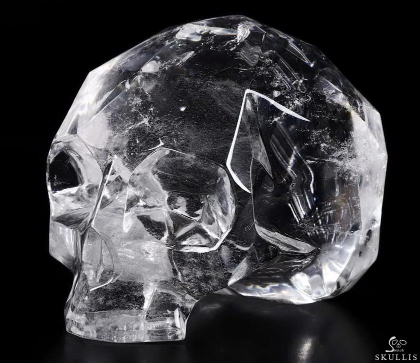 Quartz Rock Crystal Crystal Faceted Skull