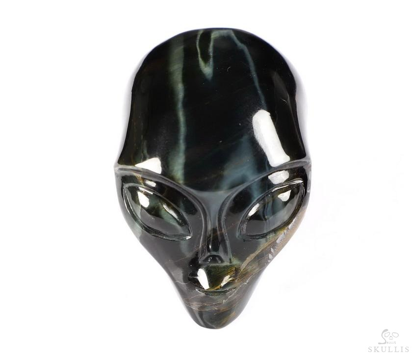 Tiger Iron Eye Crystal Female Alien Skull