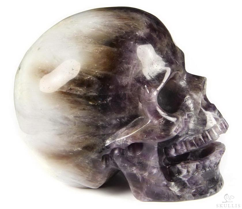 Dream Chevron Amethyst Crystal Singing Skull