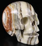 "Huge 5.0"" Eastern Jasper Carved Crystal Singing Skull, Crystal Healing"