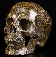 "5.0"" Coffee Opal Carved Crystal Skull,Super Realistic, Crystal Healing"
