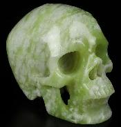 "Huge 5.0"" Chinese Picasso Jasper Carved Crystal Skull,Super Realistic, Crystal Healing"