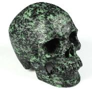 "5.1"" Ruby Zoisite Carved Crystal Skull,Super Realistic, Crystal Healing"