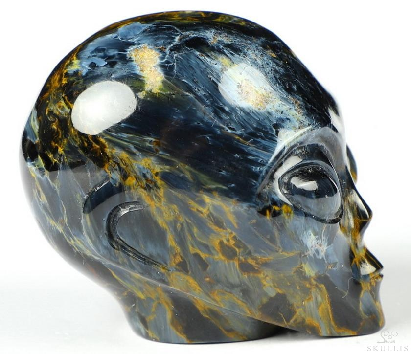 Blue, Gold & Red Pietersite Crystal Skull Companion