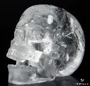 "Huge 5.1"" Quartz Rock Crystal Carved Crystal Skull, Realistic"