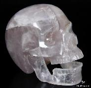 "HUGE 5.0"" Fluorite Carved Crystal Singing Skull"