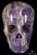 "HUGE 5.2"" Amethyst Carved Crystal Skull, Super Realistic"