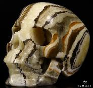 "HUGE 5.1"" Eastern Jasper Carved Crystal Skull,Super Realistic"