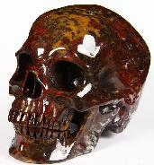 "HUGE 5.1"" Chinese Bloodstone Carved Crystal Skull, Super Realistic"