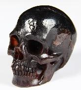 "Gemstone 2.0"" Garnet Carved Crystal Skull, Super Realistic"