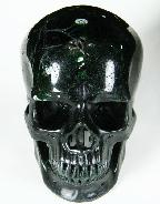 "HUGE 5.2"" Green Coral Stone Carved Crystal Skull, Super Realistic"