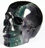 "HUGE 5.1"" Fluorite Carved Crystal Singing Skull"
