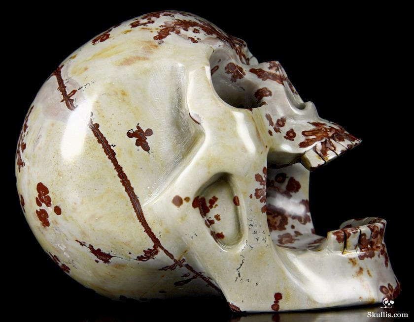 Chinese Painting Stone Crystal Screaming Skull