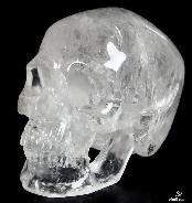 "Lifesized 8.3"" Quartz Rock Crystal Carved Crystal Skull, Super Realistic"