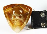 Agate Carved Crystal Skull Belt with Sterling Silver