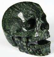 "HUGE 5.1"" Kambaba Jasper Carved Crystal Singing Skull"