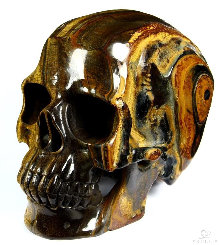 Gold Tiger Eye Crystal Skull