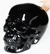 "TITAN 10.5"" Black Obsidian Carved Crystal Skull, Super Realistic"
