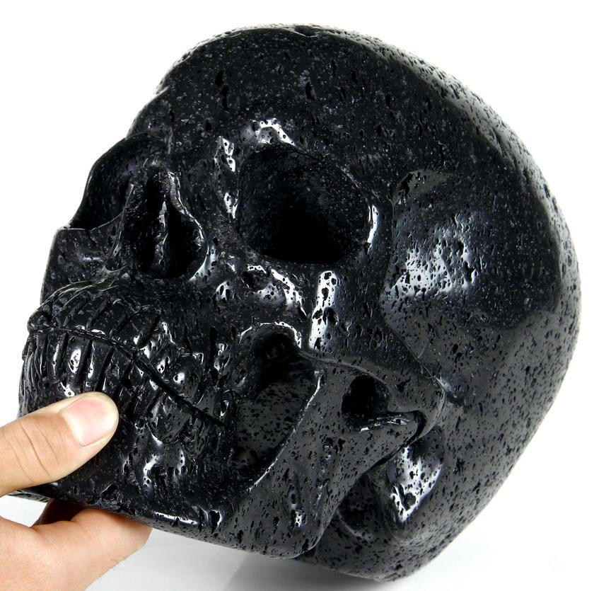 Hot Lava Stone Crystal Skull
