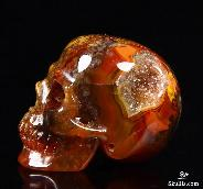 "Gemstone 1.4"" Empire Red Agate Carved Crystal Skull"