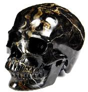 "Huge 5.2"" Stromatolite Fossil carved Crystal Skull, Super Realistic"