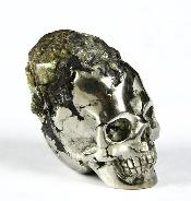 "Gemstone 1.1"" Pyrite Druse Carved Crystal Skull"