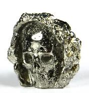 "Gemstone 1.5"" Pyrite Druse Carved Crystal Skull"