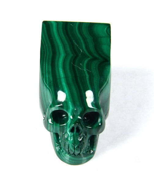 Malachite Crystal Skull