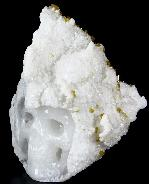 "Huge 7.3"" Apophyllite & Zeolite Carved Crystal Skull"