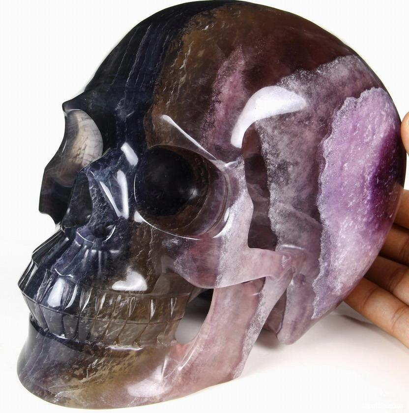 Giant quot fluorite carved crystal skull realistic