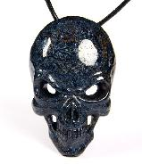 Gemstone Blue Pietersite Carved Crystal Skull Pendant