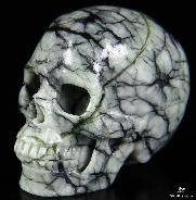 "2.0"" Picasso Jasper Carved Crystal Skull, Realistic"