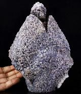 "Amazing Huge 8.9"" Purple Grape Agate Carved Crystal Skull Sculpture"