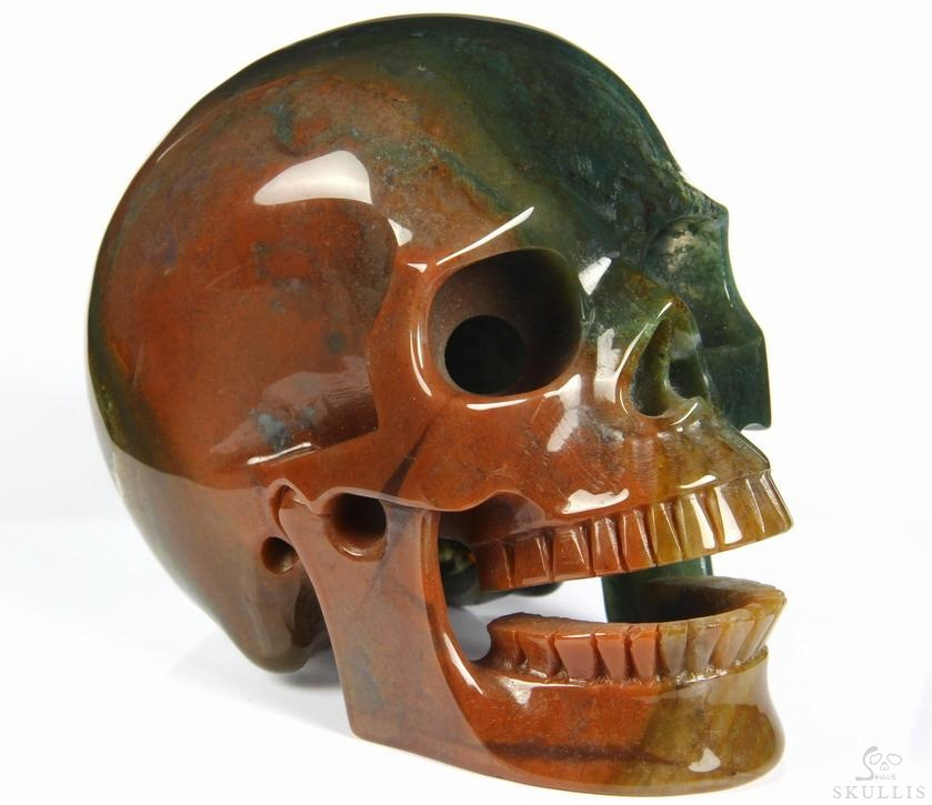 Indian Agate Crystal Singing Skull