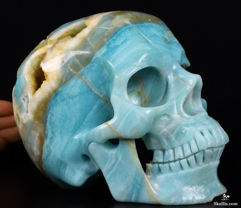 Nice geode lifesized quot chinese amazonite carved crystal