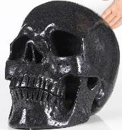 "Titan 12.4"" Hot Lava Stone Carved Crystal Skull, Super Realistic"