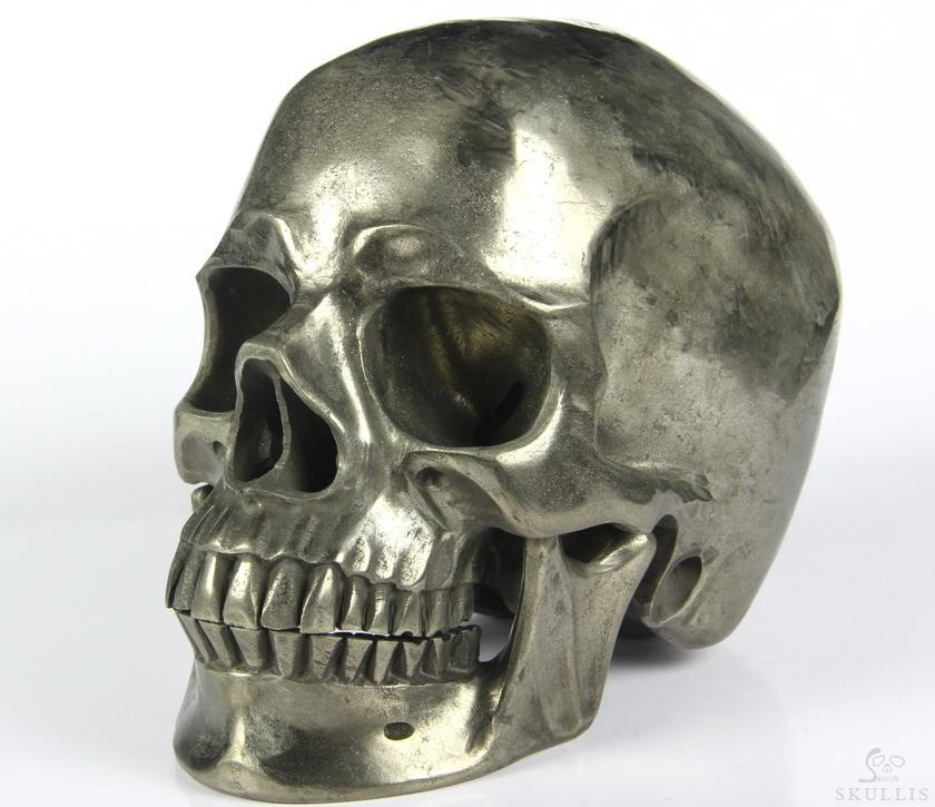 Pyrite Crystal Skull Detachable Jaw