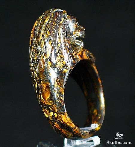 Tiger's Iron Eye Lion Ring