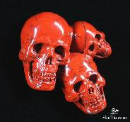 Red Jasper Carved Crystal Skulls Pendant, P10