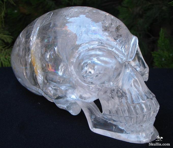 Clear Quartz Crystal Elongated Mayan Alien Crystal Skull