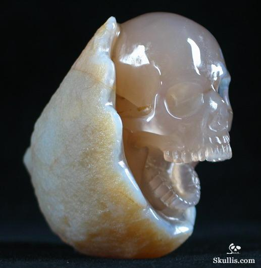 Agate Crystal Laughing Skull