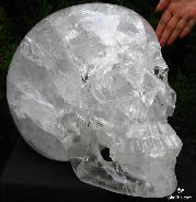 "Recommend, Zambian TITAN 14.7"" Quartz Rock Crystal Carved Crystal Skull, Realistic"