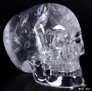 "6.2"" Quartz Rock Crystal Carved Mitchell-Hedges Crystal Skull Replica Skull of Doom"